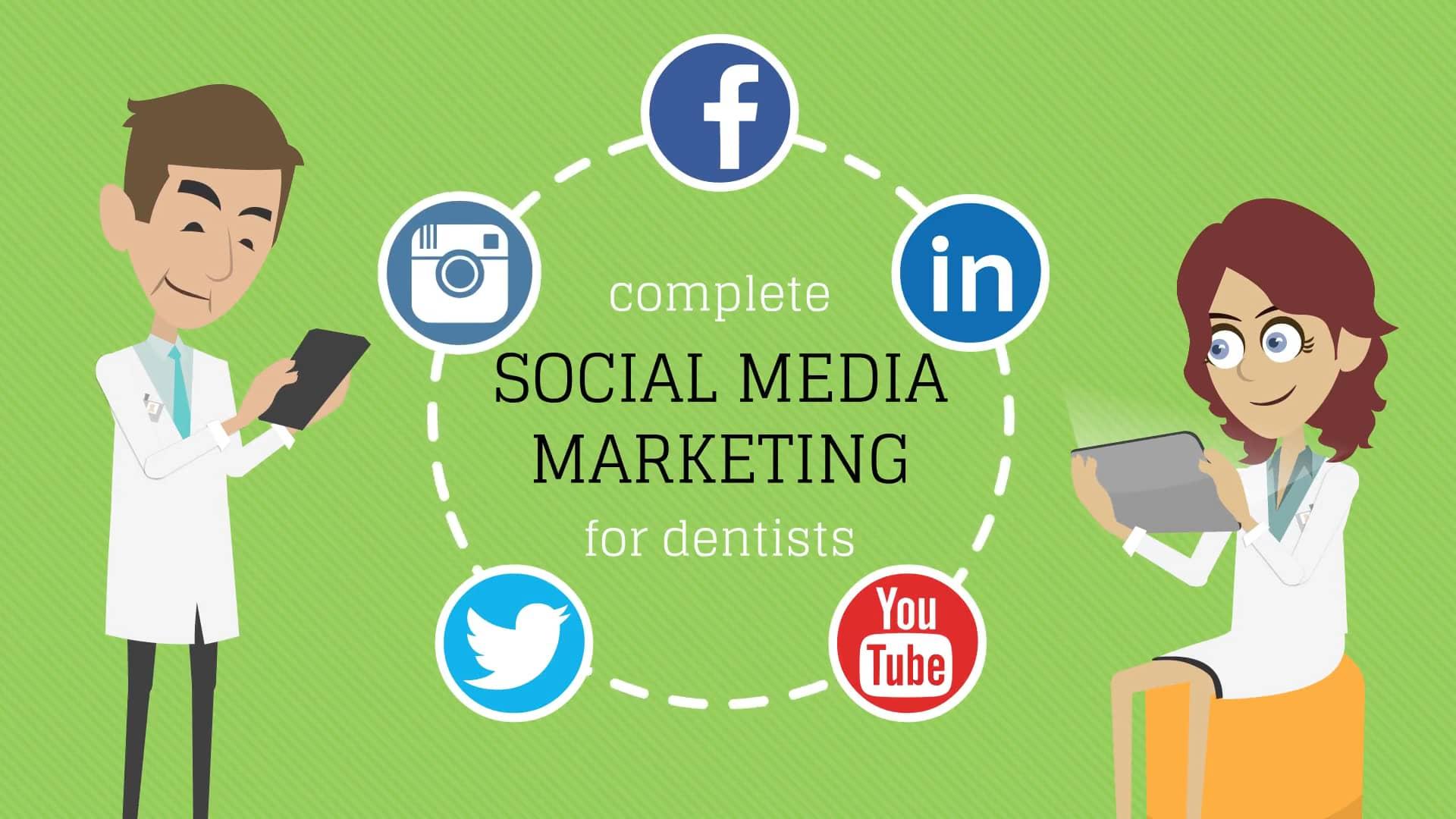 Dental Social Media Facebook Twitter Youtube Linkedin